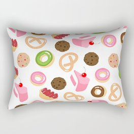 donut & cake & cookies Rectangular Pillow
