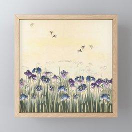 Iris meadow Framed Mini Art Print
