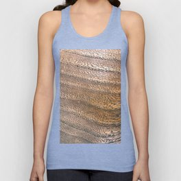 Warm Waved Wood Unisex Tank Top