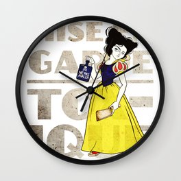 Snow White Gets Her Sass On Wall Clock