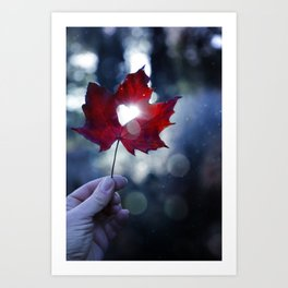 My heart lives in Nature! Art Print