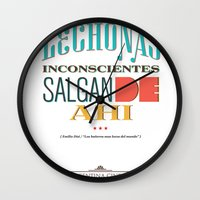 argentina Wall Clocks featuring Argentina Cinema by Estudio Minga | www.estudiominga.com