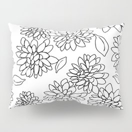 floating dahlias Pillow Sham