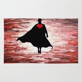 Superman unleashed Rug