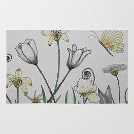 Doodle Summer Flowers Rug