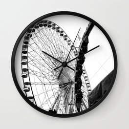 At the Fair: Round and Round Wall Clock