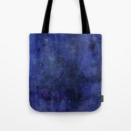 Galaxy Watercolor Nebula Texture Night Sky Stars Tote Bag