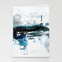 skyline Stationery Cards featuring Skyline by girardin27