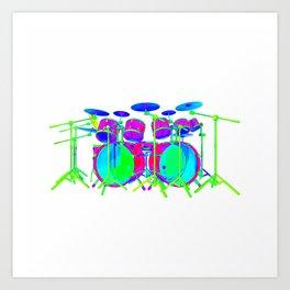 Colorful Drum Kit Art Print