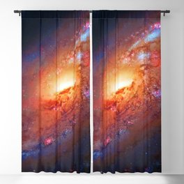 Spiral Galaxy in the Hunting Dogs constellation Blackout Curtain
