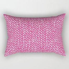 Hand Knit Hot Pink Rectangular Pillow