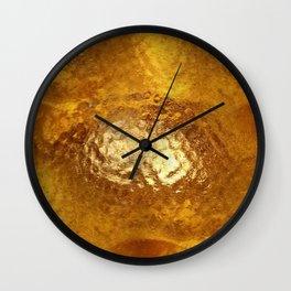 Hammered Gold Wall Clock