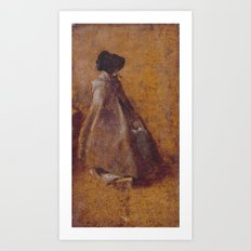 John Constable 1776–1837   Study of a Girl in a Cloak and Bonnet Art Print