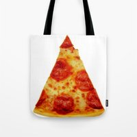 pizza Tote Bags featuring PIZZA by @thecultureofme