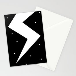 Lightning Bolt in Starry Night Sky  Stationery Cards