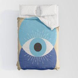 Evil Eye Symbol Mid Century Modern Art 70s Style Comforters