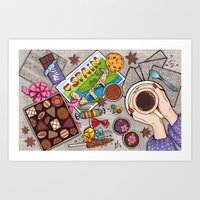 chocolate Art Prints featuring Chocolate by Natalia Illarionova