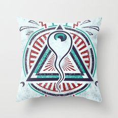 All Seeing All Knowing Throw Pillow