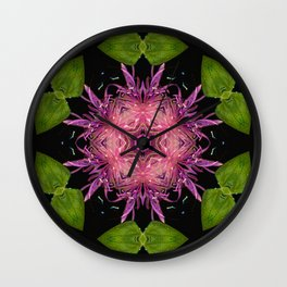 Knapweed Kaleidoscope  Wall Clock