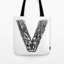 The Illustrated V Tote Bag