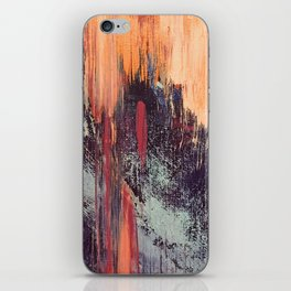 Night and Day: pretty abstract piece in orange, purple, and blues iPhone Skin