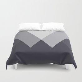 Sawtooth Inverted Blue Grey Duvet Cover