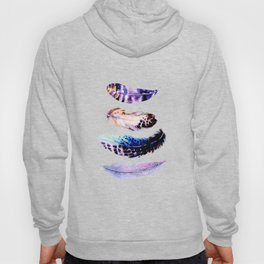 Watercolor Feathers Hoody