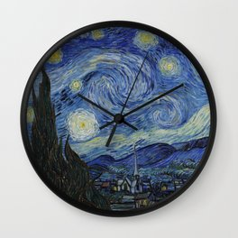 THE STARRY NIGHT - VAN GOGH Wall Clock