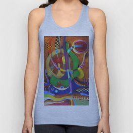 Painting abstract climbing in the mountains Unisex Tank Top