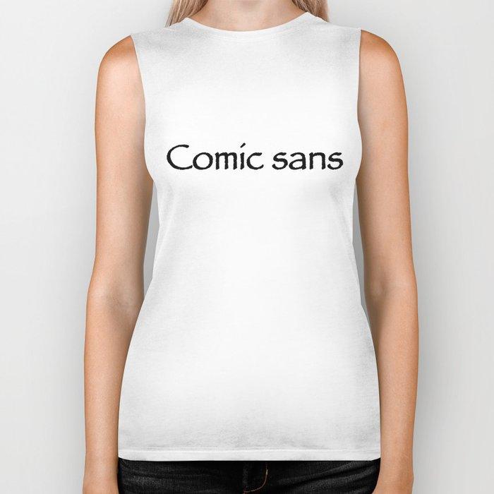 Comic sans Biker Tank