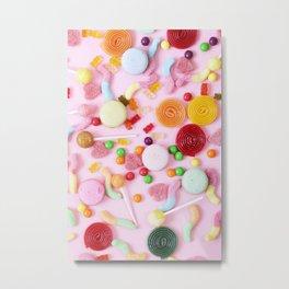 Pink Candy Metal Print
