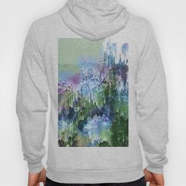 Wild Nature Glitch - Blue, Green, Ultra Violet #nature #homedecor Hoody
