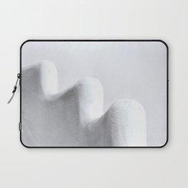 White and Minimal Laptop Sleeve