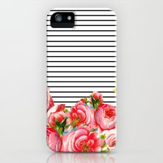 Bold Floral and stripes Slim Case iPhone (5, 5s)