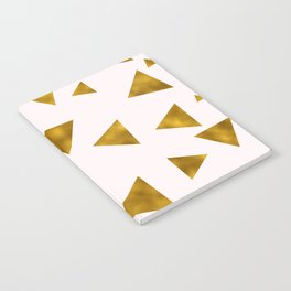 Soft Pink And Rustic Gold Triangles Notebook