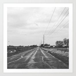 Rainy drive Art Print