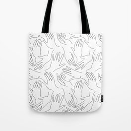 Abstract hand line art drawing Tote Bag
