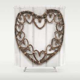 Heart of Twigs Shower Curtain