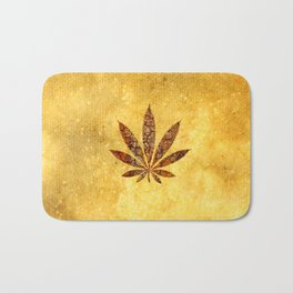 Vintage Cannabis Leaf Bath Mat