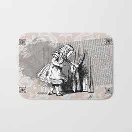 Alice and the door - Original Illustration  Bath Mat