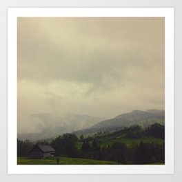 Swiss mountains Art Print