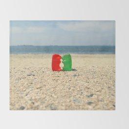 Gummy Bear Beach Kiss Throw Blanket