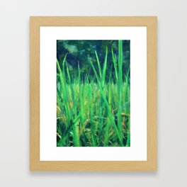 Grasslands in the Himalayan Foothills Framed Art Print