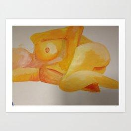 Woman on her side Art Print