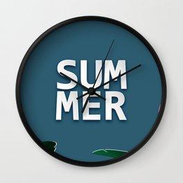 A summer weekend  Wall Clock