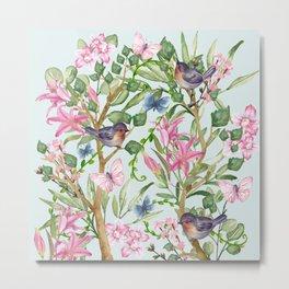 Spring Chinoiserie Metal Print