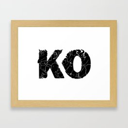 knock out KO Framed Art Print