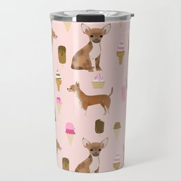 chihuahua ice cream dog lover pet gifts cute pure breed chihuahuas Travel Mug