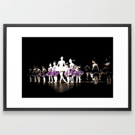 Ballerina and Students III Framed Art Print