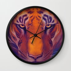 Solar Tiger Wall Clock